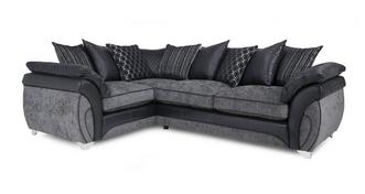 Luna Right Hand Facing 3 Seater Pillow Back Corner Sofa