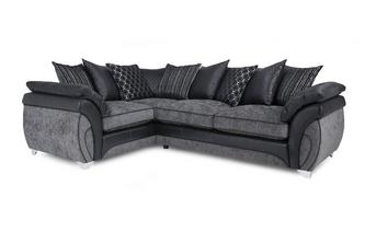 Right Hand Facing 3 Seater Pillow Back Corner Sofa Luna