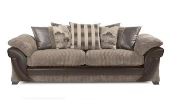 4 Seater Pillow Back Sofa Chantilly