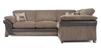 Lush Left Hand Facing 2 Seater Formal Back Corner Sofa