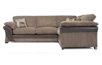 Left Hand Facing 2 Seater Formal Back Corner Sofa Chantilly