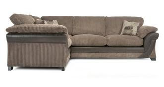 Lush Right Hand Facing 2 Seater Formal Back Corner Sofa