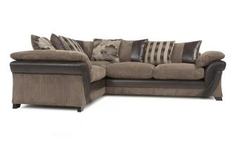 Right Hand Facing 2 Seater Pillow Back Corner Sofa Chantilly