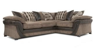 Lush Left Hand Facing 2 Seater Pillow Back Corner Sofabed