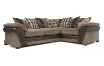 Left Hand Facing 2 Seater Pillow Back Corner Deluxe Sofabed Chantilly