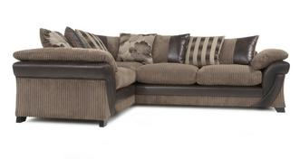 Lush Right Hand Facing 2 Seater Pillow Back Corner Sofabed