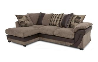 Right Arm Facing Open End Pillow Back Corner Sofa Chantilly