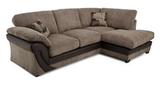 Lush Left Arm Facing Open End Formal Back Corner Sofa