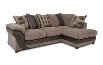 Left Arm Facing Open End Pillow Back Corner Sofa Chantilly