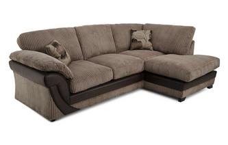 Left Arm Facing Open End Formal Back Corner Deluxe Sofabed Chantilly