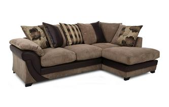 Left Arm Facing Open End Pillow Back Corner Deluxe Sofabed Chantilly