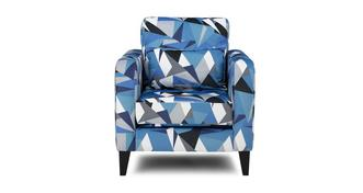 Lustre Pattern Accent Chair