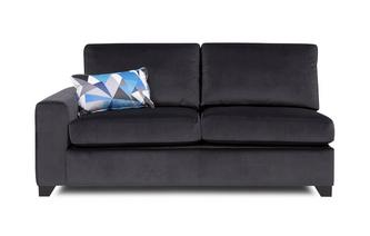 Left Hand Facing 1 Arm 3 Seater Deluxe Sofa Bed Lustre