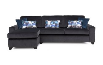 Left Hand Facing Chaise End 3 Seater Sofa Lustre