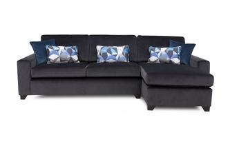 Right Hand Facing Chaise End 3 Seater Sofa Lustre