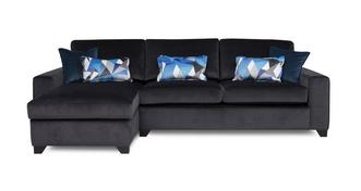Lustre Left Hand Facing Chaise End 3 Seater Deluxe Sofa Bed