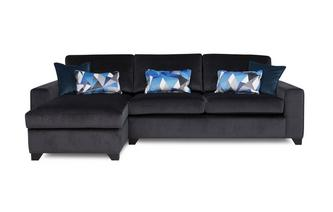 Left Hand Facing Chaise End 3 Seater Deluxe Sofa Bed