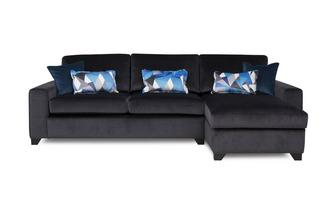 Right  Hand Facing Chaise End 3 Seater Deluxe Sofa Bed Lustre
