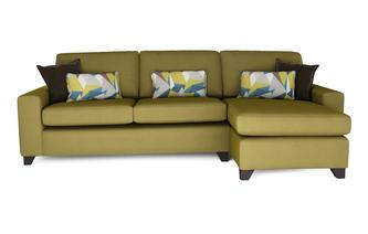 Fabric sofa beds in a range of styles designs greens dfs for Chaise end sofa bed