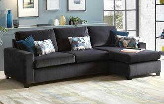 Fabric sofa beds in a range of styles designs dfs for Chaise end sofa bed