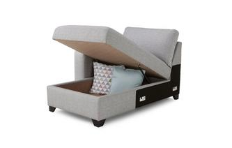 Left Hand Facing 1 Arm Storage Chaise Unit