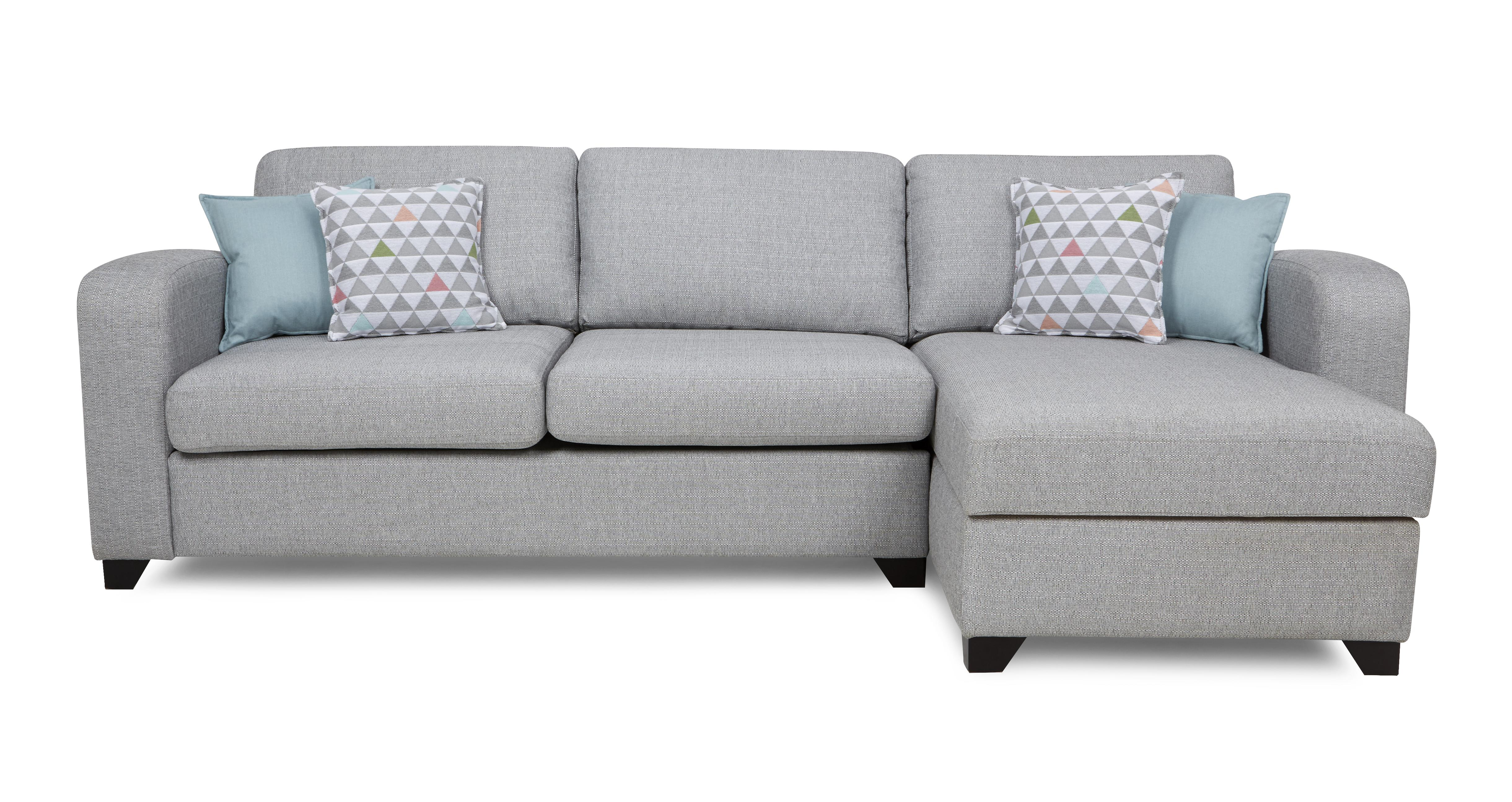 Lydia right hand facing chaise end 3 seater sofa dfs for Chaise end sofas