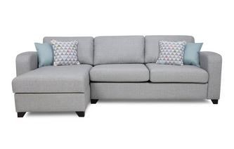 Left Hand Facing Chaise End 3 Seater Deluxe Sofa Bed Lydia