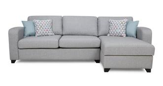 Lydia Right Hand Facing Chaise End 3 Seater Deluxe Sofa Bed