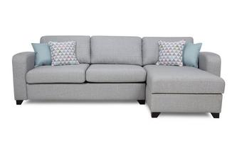 Right Hand Facing Chaise End 3 Seater Deluxe Sofa Bed Lydia