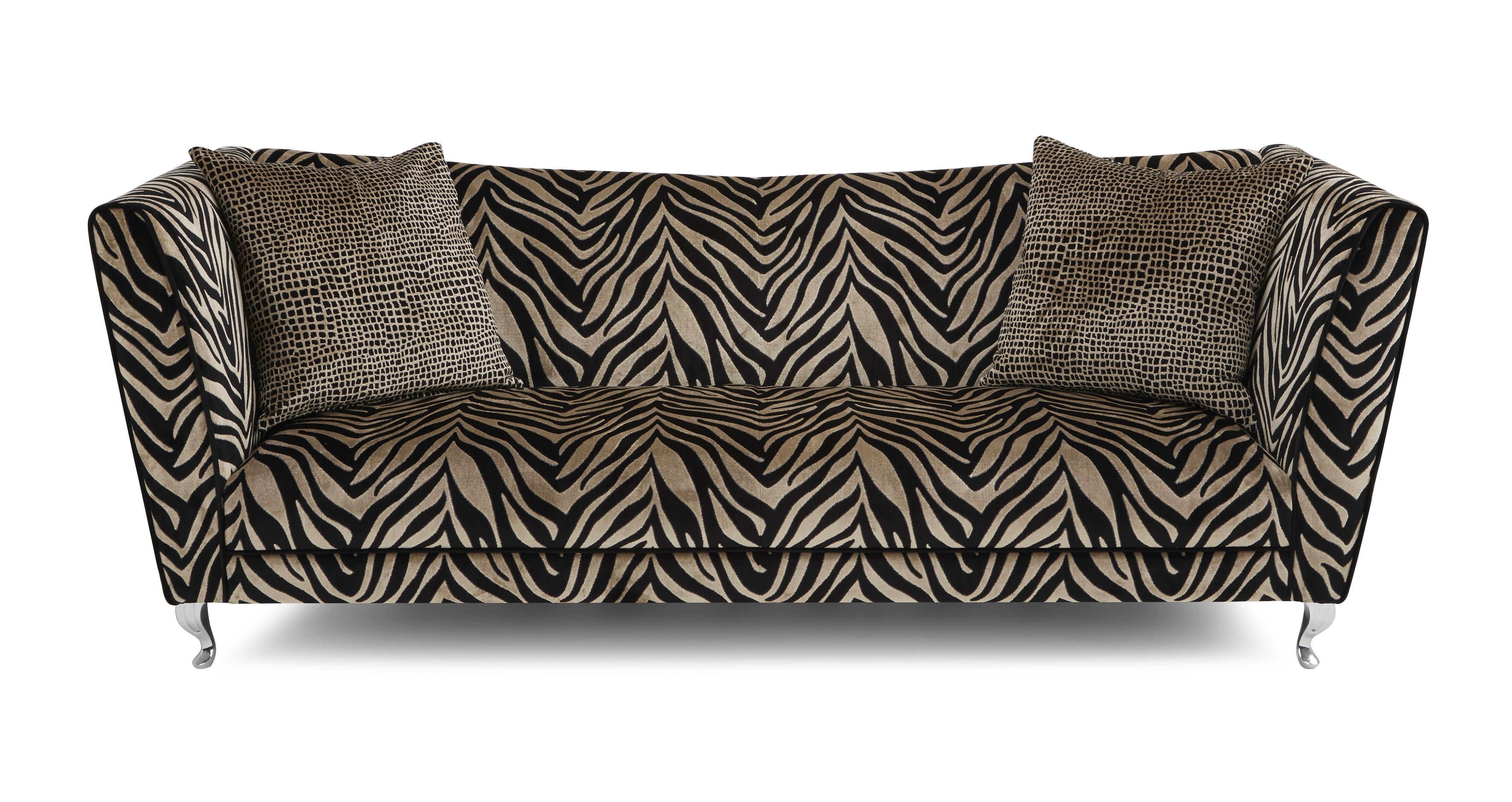 madagascar tiger pattern 4 seater sofa dfs banken. Black Bedroom Furniture Sets. Home Design Ideas