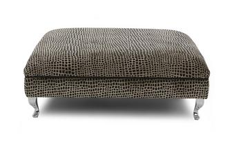 Square Pattern Large Footstool Madagascar