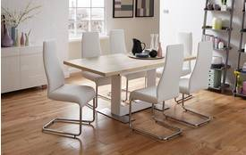 Manhattan Extending Table & Set of 4 Chairs Manhattan