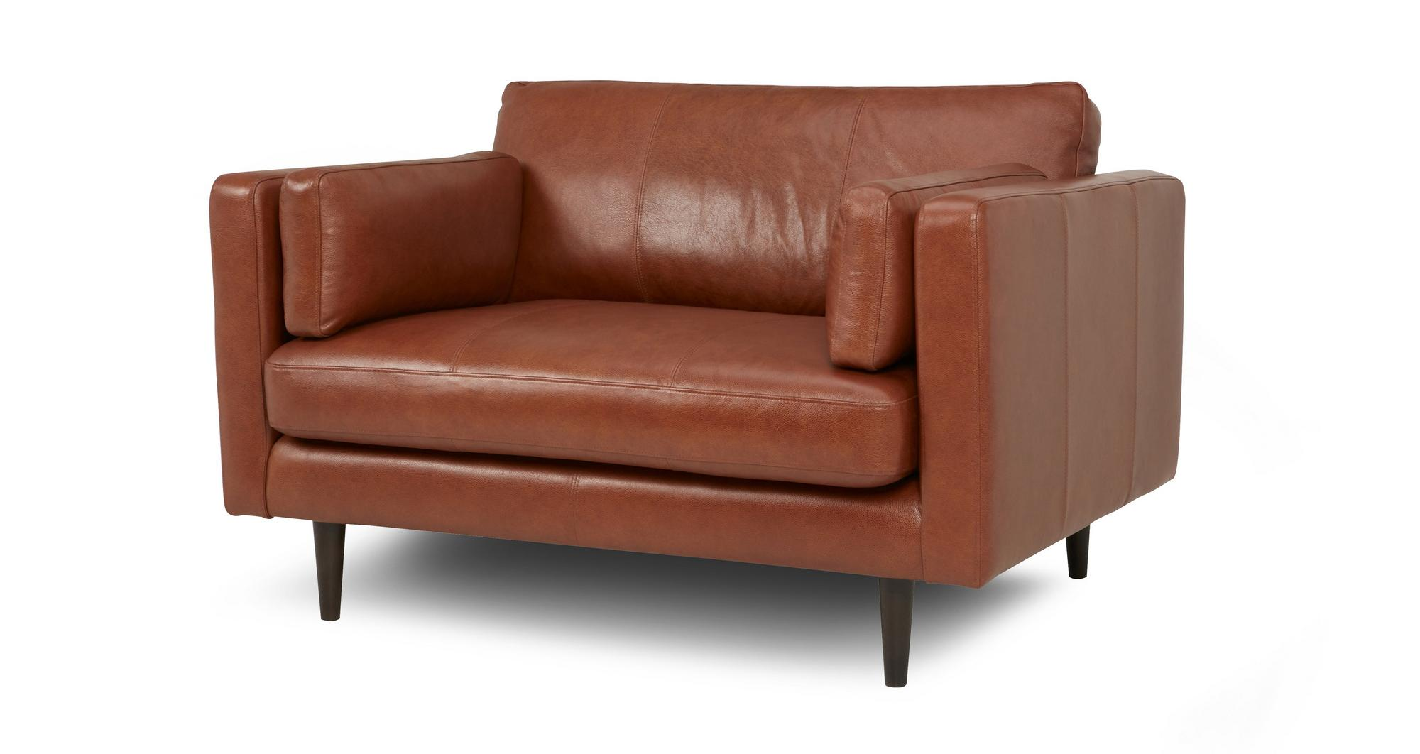 Dfs Marl Tan 100 Leather Large Sofa Small Sofa Cuddler