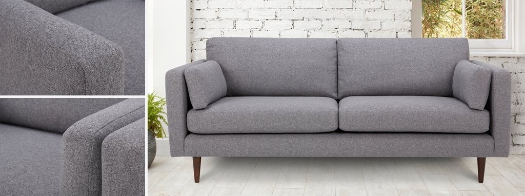 Marl Fabric Cuddler Sofa Marl Plain Dfs