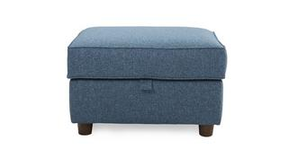Marl Fabric Storage Footstool