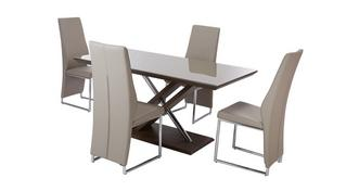 Marteni Fixed Top Table & Set of 4 Chairs