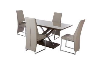 Fixed Top Table & Set of 4 Chairs Marteni