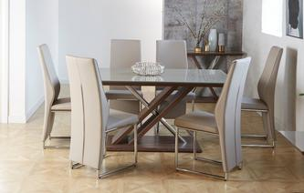 Marteni Fixed Top Table & Set of 4 Chairs Marteni