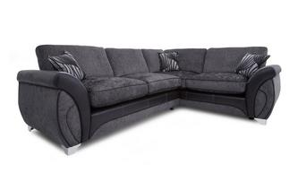 Left Hand Facing 3 Seater Formal Back Corner Deluxe Sofa Bed