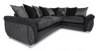 Matinee Left Hand Facing 3 Seater Pillow Back Corner Deluxe Sofa Bed