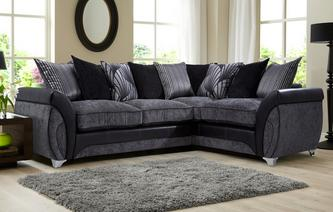 Matinee Left Hand Facing 3 Seater Pillow Back Corner Deluxe Sofa Bed Matinee