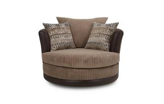Large Swivel Chair Mawson Rib