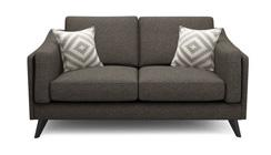 Maya 2 Seater Brown Sofa