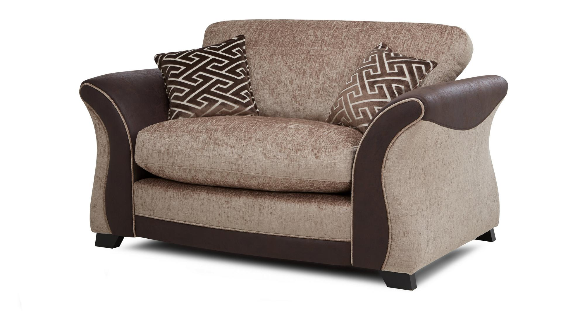 Dfs Merida Mink Brown Fabric 4 Seater Formal Back Sofa