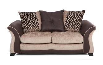 Large 2 Seater Pillow Back Deluxe Sofa Bed Merida