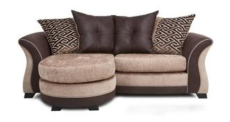 Merida 3 Seater Pillow Back Lounger