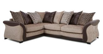 Merida Right Hand Facing 3 Seater Pillow Back Corner Sofa
