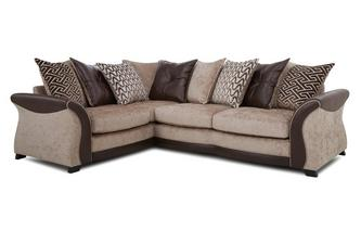 Right Hand Facing 3 Seater Pillow Back Corner Sofa Merida