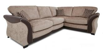 Merida Left Hand Facing 3 Seater Formal Back Deluxe Corner Sofa Bed