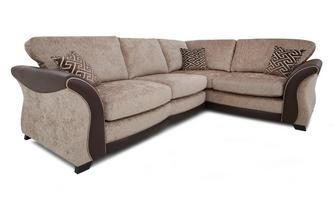 Left Hand Facing 3 Seater Formal Back Deluxe Corner Sofa Bed Merida